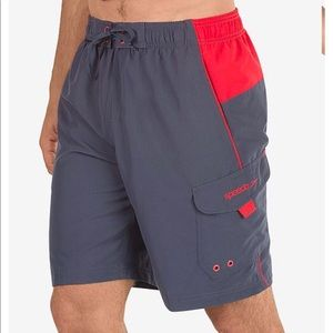 Men's Speedo Marina sport swim trunks granite red